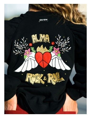 SUDADERA BORDADA ''ALMA ROCK & ROLL''